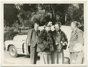 Helen Keller and Polly Thomson visiting Natural Area