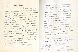 Letter from Pearl S. Buck