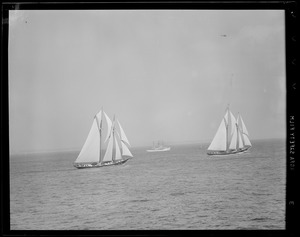 Fishermen racing off Gloucester