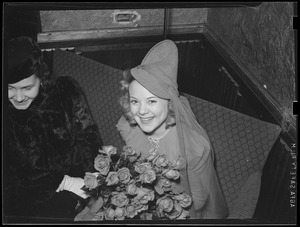Sonja Henie with roses