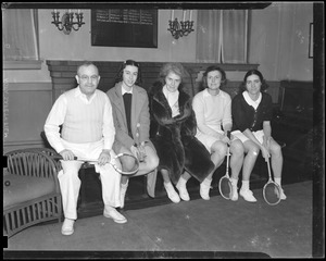 One man and four women players (possibly Eleonora Sears)