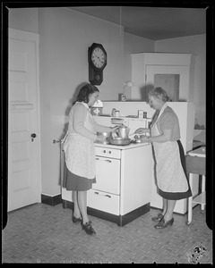 Hazel Wightman in the kitchen at her house at 17 Dorothy Rd., Newton