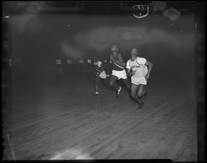 101st St. Armory, Walter Holmes beats Charlie Jenkins in 50 yard dash setting met track league record in 5.6 seconds