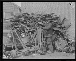 Scrap iron for war effort, WWII