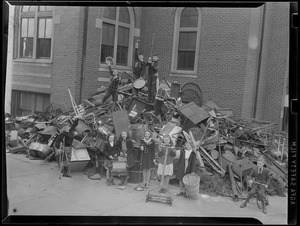 Collecting scrap - WWII