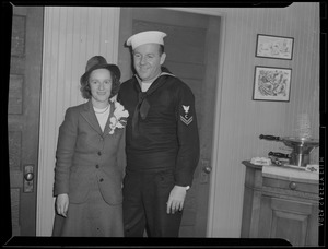 Sailors with woman, WWII