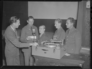 WWII: Military men being recorded