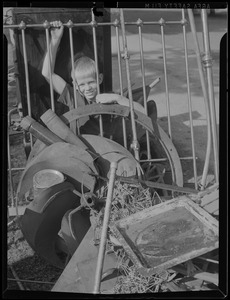 WWII: One boy - scrap metal collection?