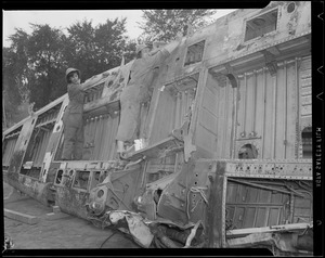 WWII: Wing displayed on Boston Common