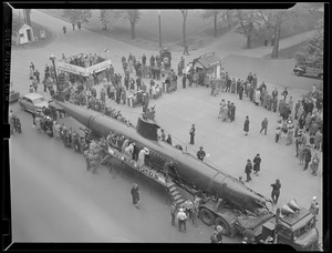 German sub used for war bond drive during WWII, on Tremont Street