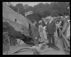 Messerschmitt on display on Boston Common WWII era