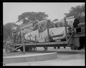 Messerschmitt displayed on Boston Common WWII era