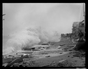 Winthrop Beach, Revere and huge surf