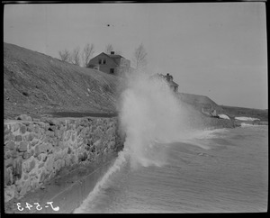 Heavy surf at Fort Heath, Winthrop Highlands (J-543)