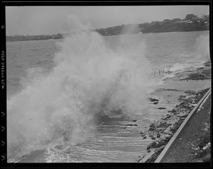 Surf pounds at Beachmont, Revere