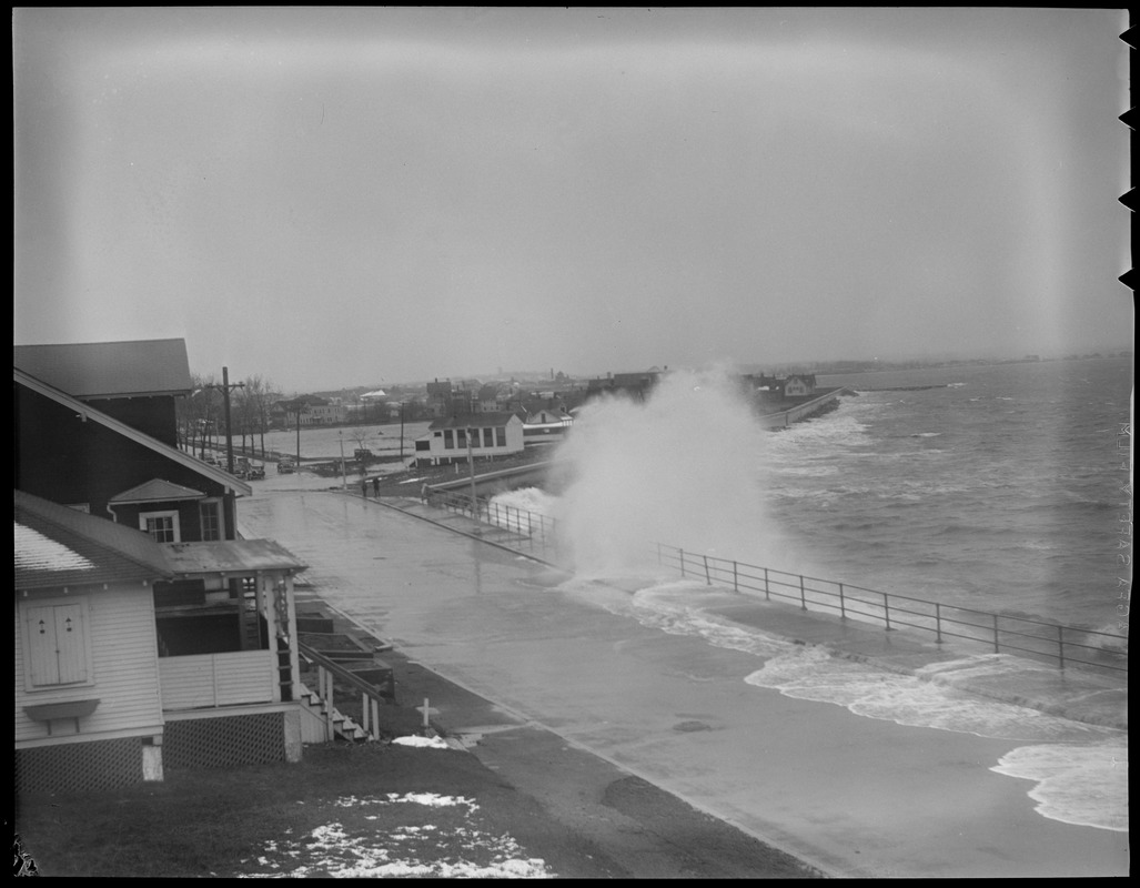 Big surf at Beachmont in Revere