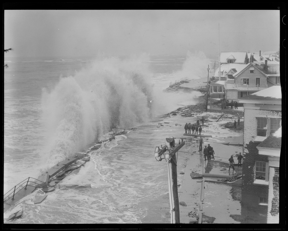 Heavy surf against Shore Drive, Winthrop