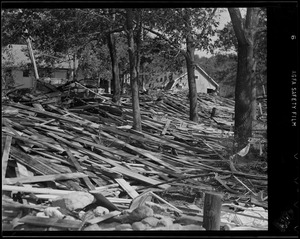 Ground covered with debris, Hurricane of 38