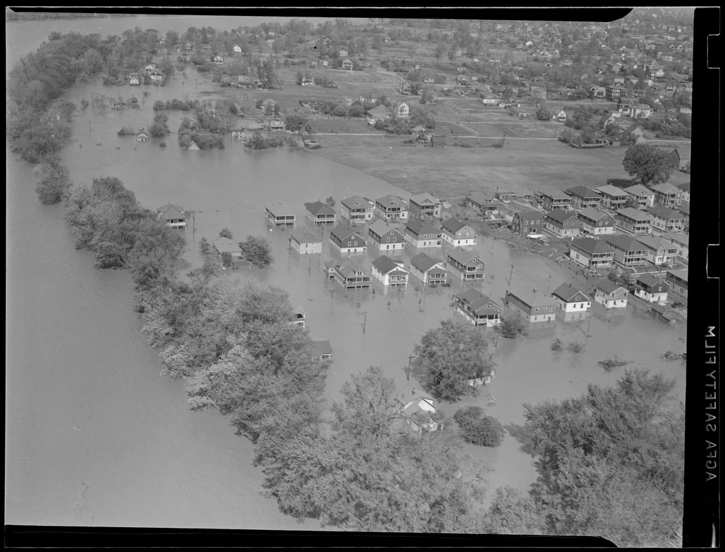 Aerial photo of flooding, Hurricane of 38