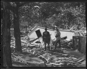 Destroyed houses, Hurricane of 38
