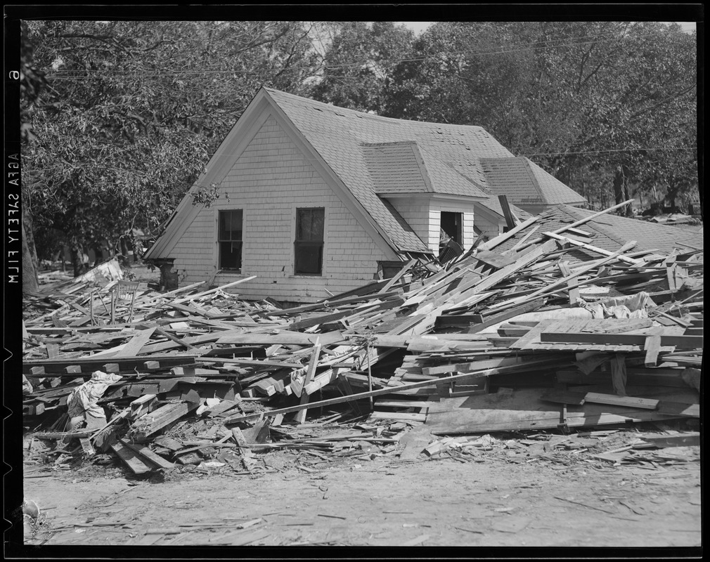 House destroyed, Hurricane of 38