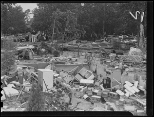 Scene of destruction, Hurricane of 38