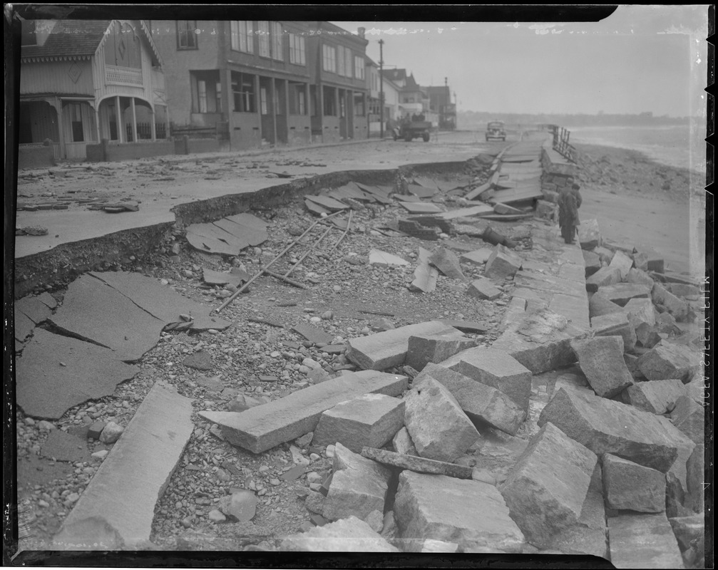 Damage to Winthrop waterfront from the big storm