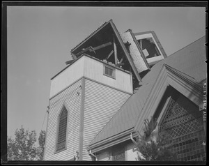 Tower on house blown off, Hurricane of 38
