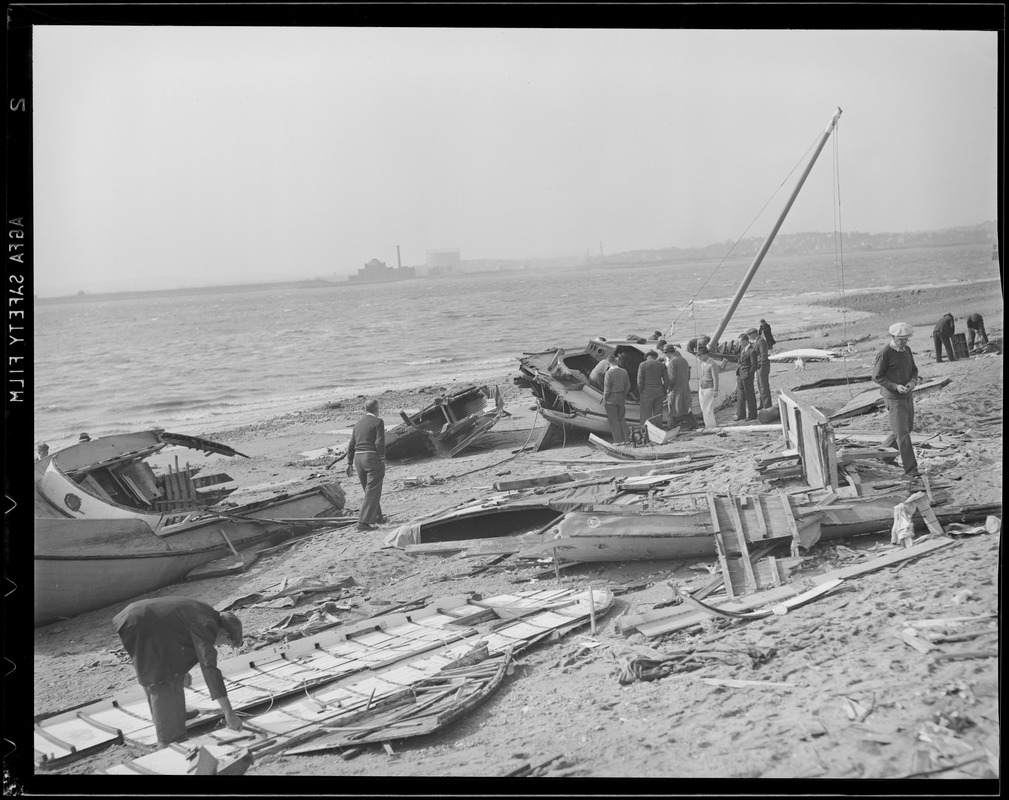 Boats pushed ashore, Hurricane of 38