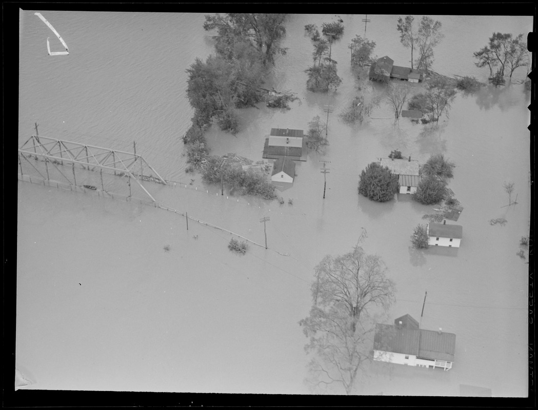 Aerial photos of flooding, Hurricane of 38