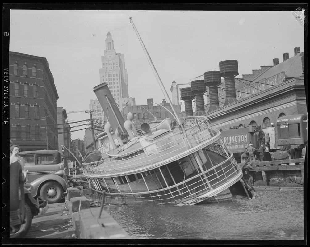Sunken ferry in Providence, R.I., Hurricane of 38