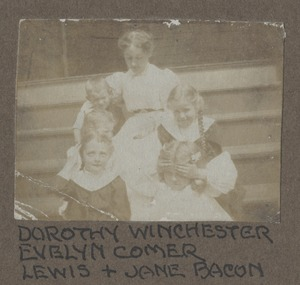 Waban photographs - Dorothy Winchester, Evelyn Comer Lewis and Jane Bacon -