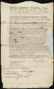 Document of indenture: Servant: Wilkinson, Ann. Master: Mellen, Martha. Town of Master: Boston
