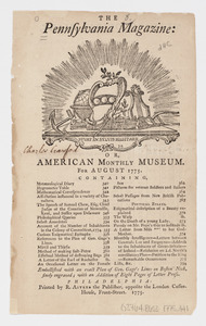 The Pennsylvania Magazine: or, American Monthly Museum : for August 1775
