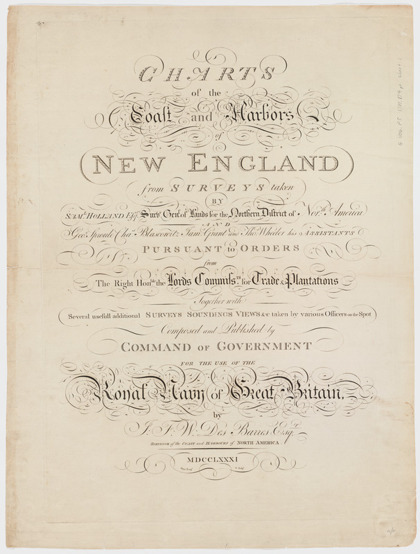 Charts of the coast and harbors of New England