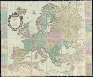 Bowles's new and accurate map of Europe, divided into it's [sic] empires, kingdoms, states, republicks and principalities