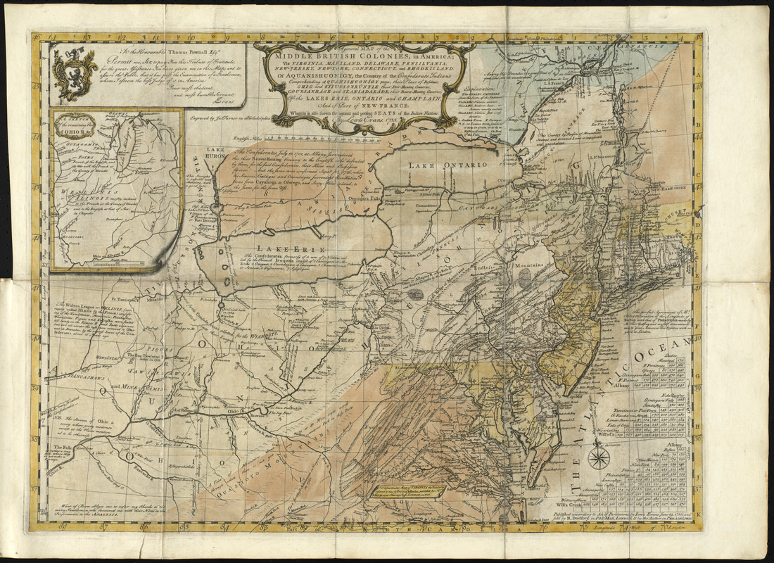 A general map of the middle British colonies, in America