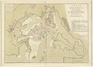 A plan of Boston, and its environs