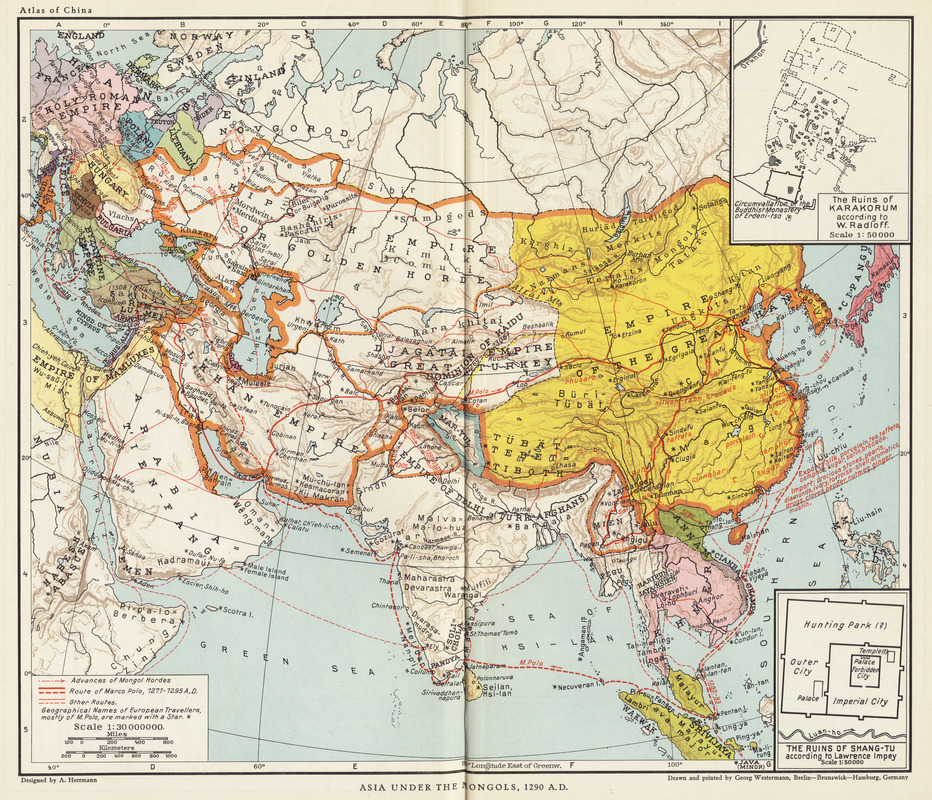 Asia under the Mongols, 1290 A.D.