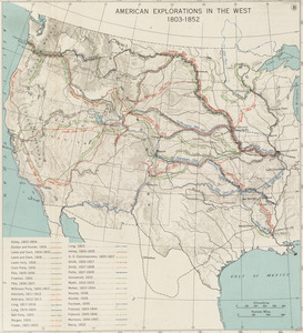 American explorations in the West, 1803-1852