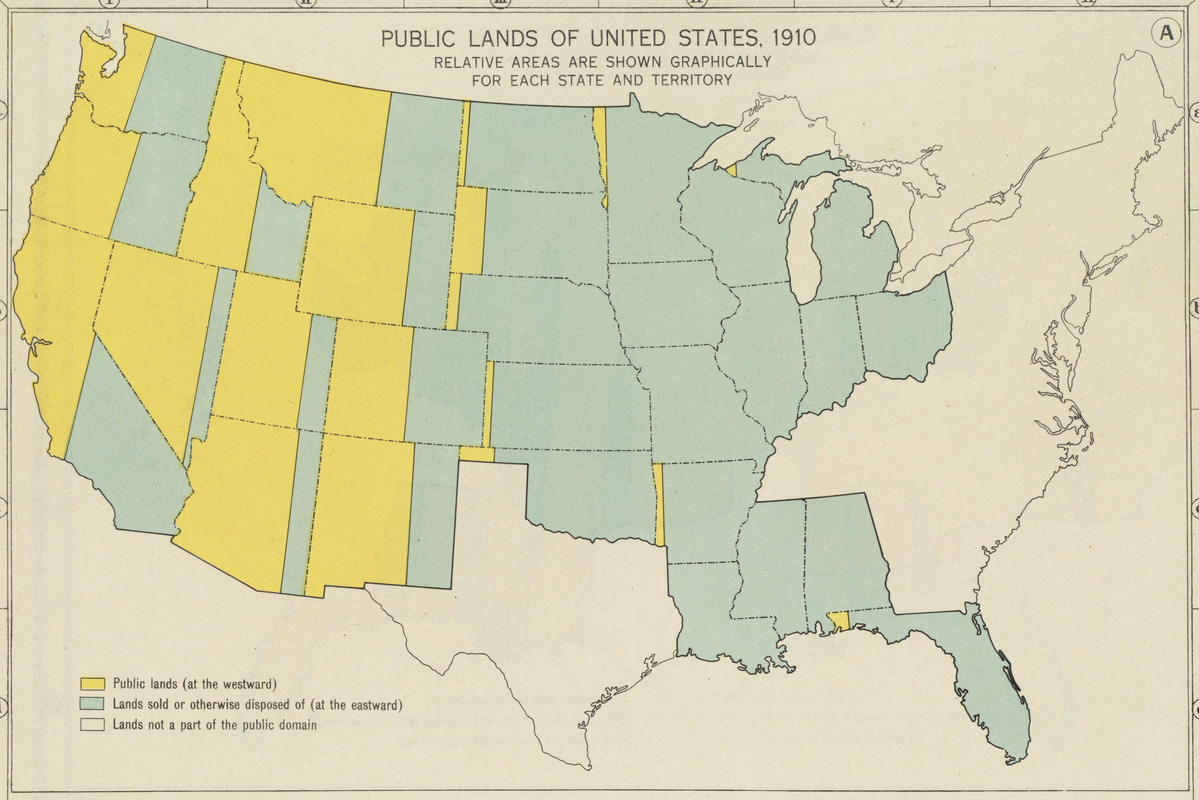 Public lands of the United States, 1910