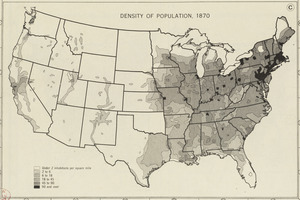 Density of population, 1870