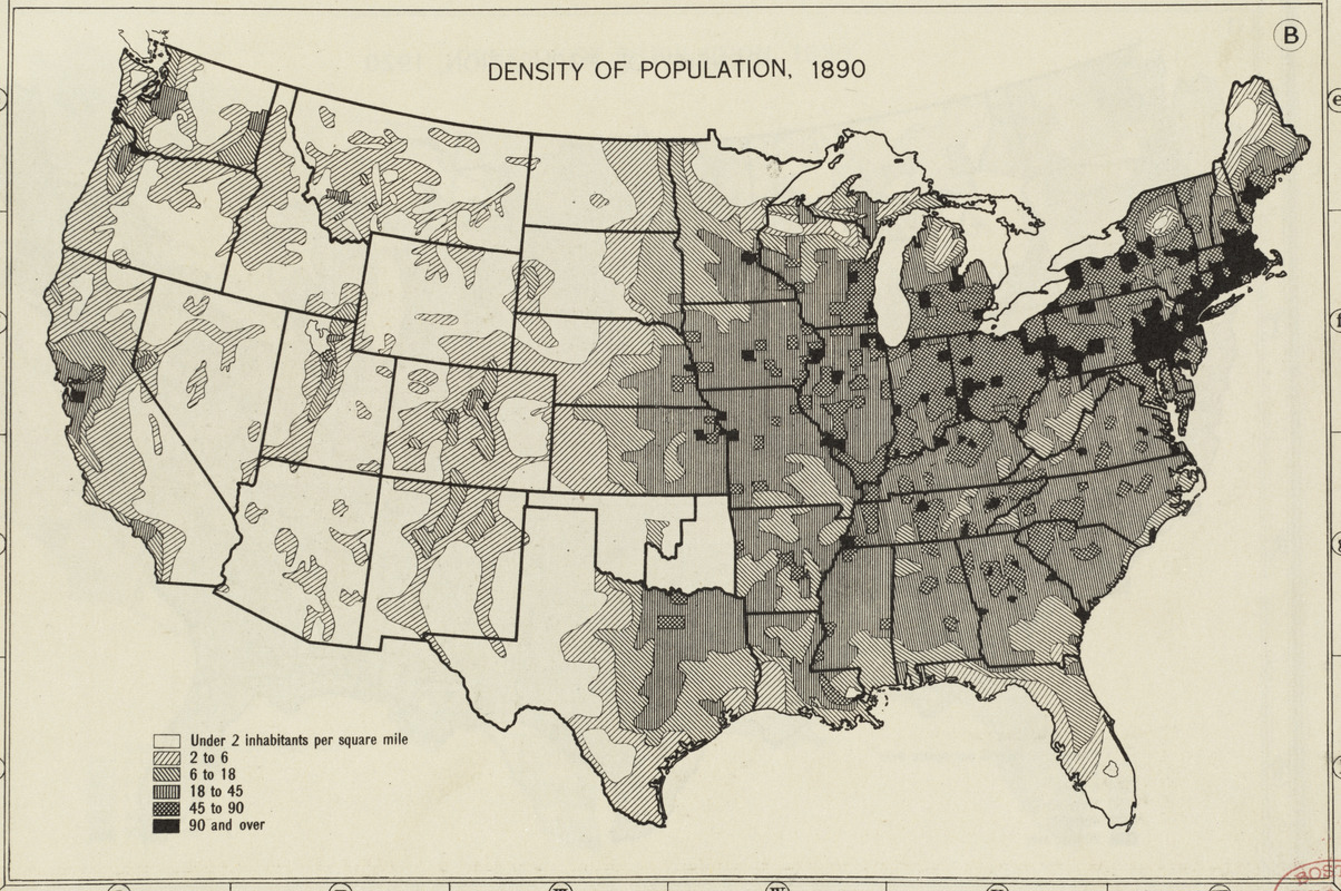 Density of population, 1890