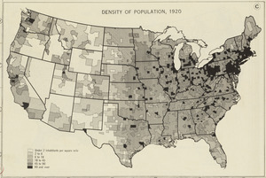 Density of population, 1920