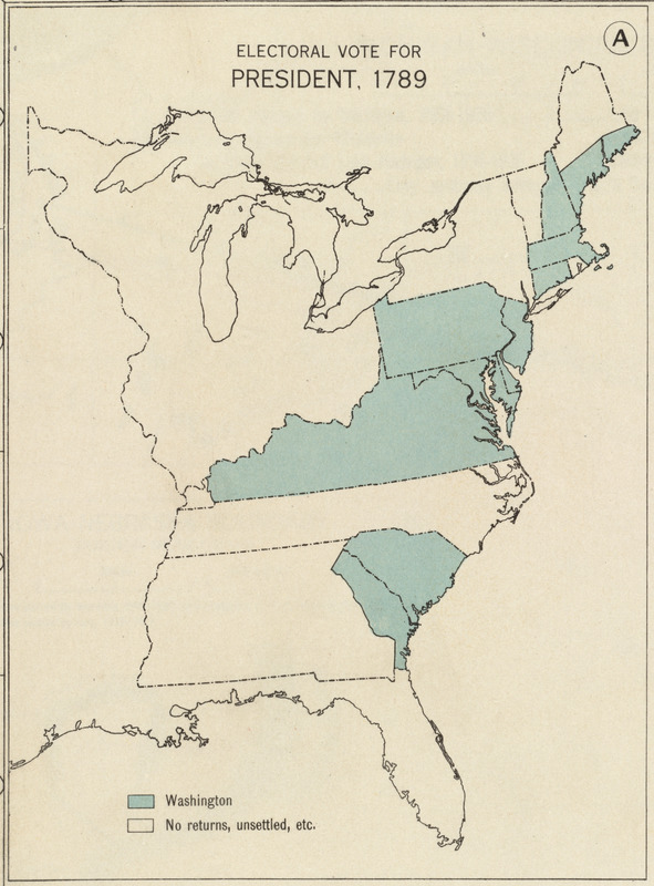 Electoral vote for President, 1789