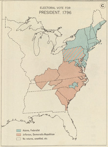 Electoral vote for President, 1796