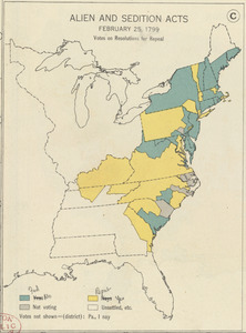 Alien and Sedition Acts, February 25, 1799, Votes on resolutions for repeal