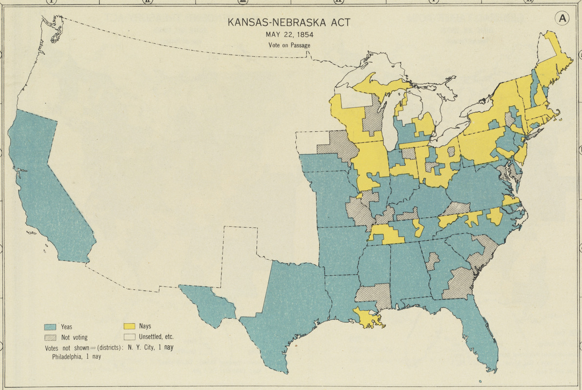 Kansas-Nebraska Act, May 22, 1854, Vote on passage