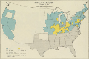 Thirteenth Amendment, January 31, 1865, Vote on passage of resolution submitting