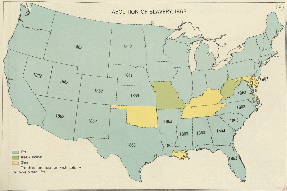 Abolition of Slavery, 1863